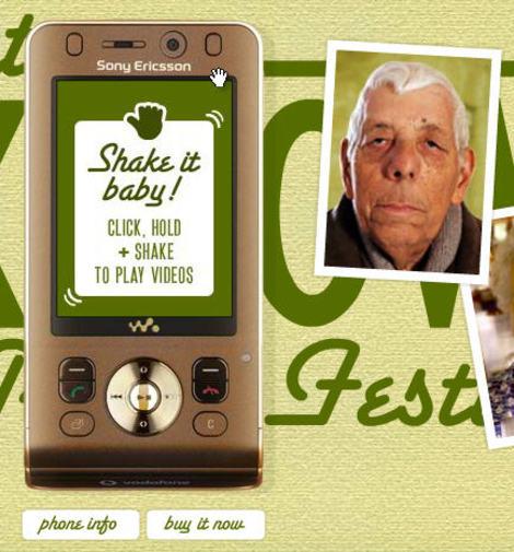 Sony Ericsson w910i site - old man closeup